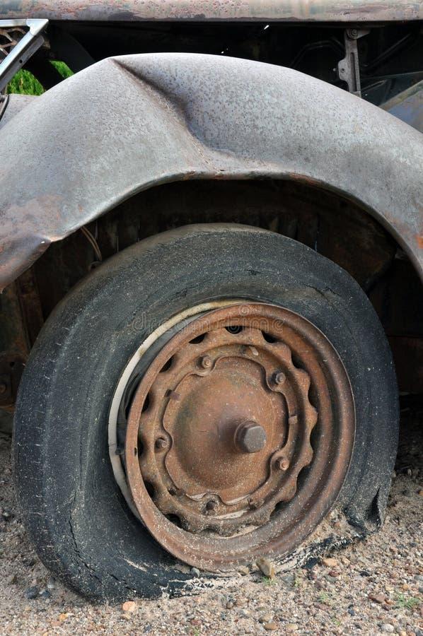 Flat Tire Royalty Free Stock Photo