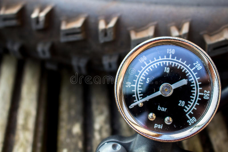 Tire pump close up royalty free stock photo