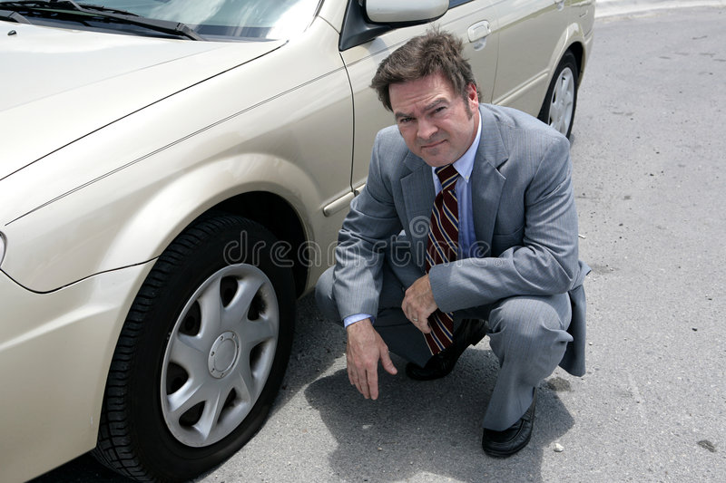 Flat Tire - Oh No royalty free stock photos