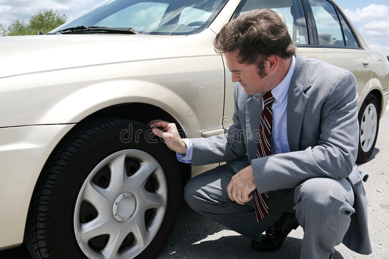 Flat Tire with stock photography