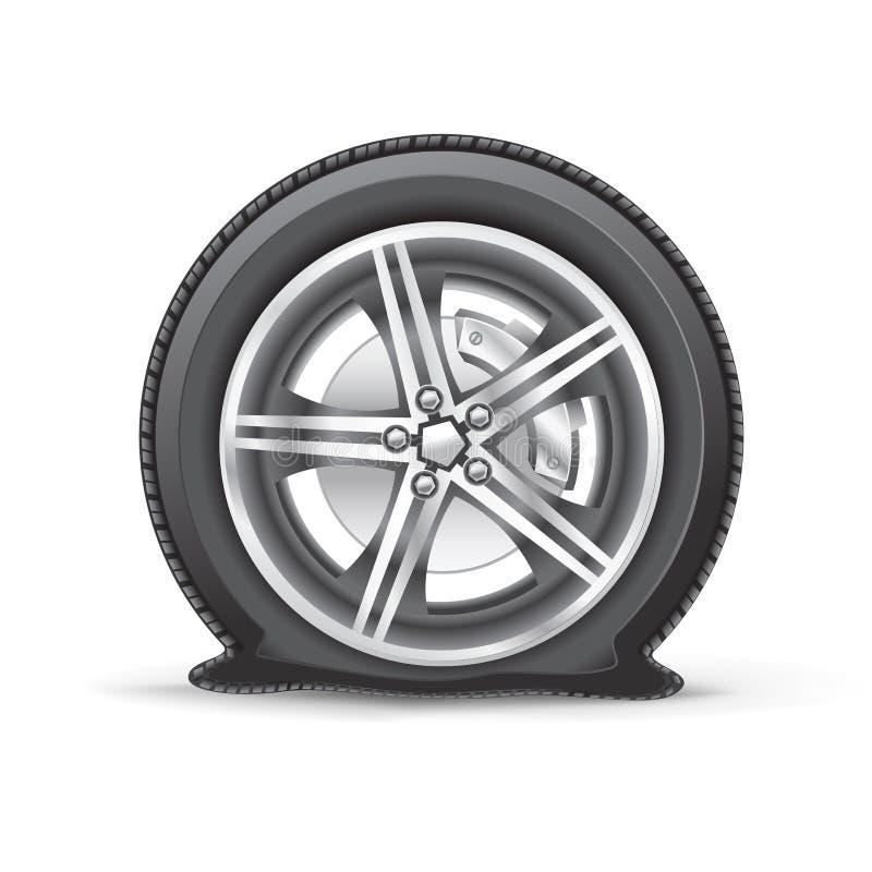 Flat tire stock illustration