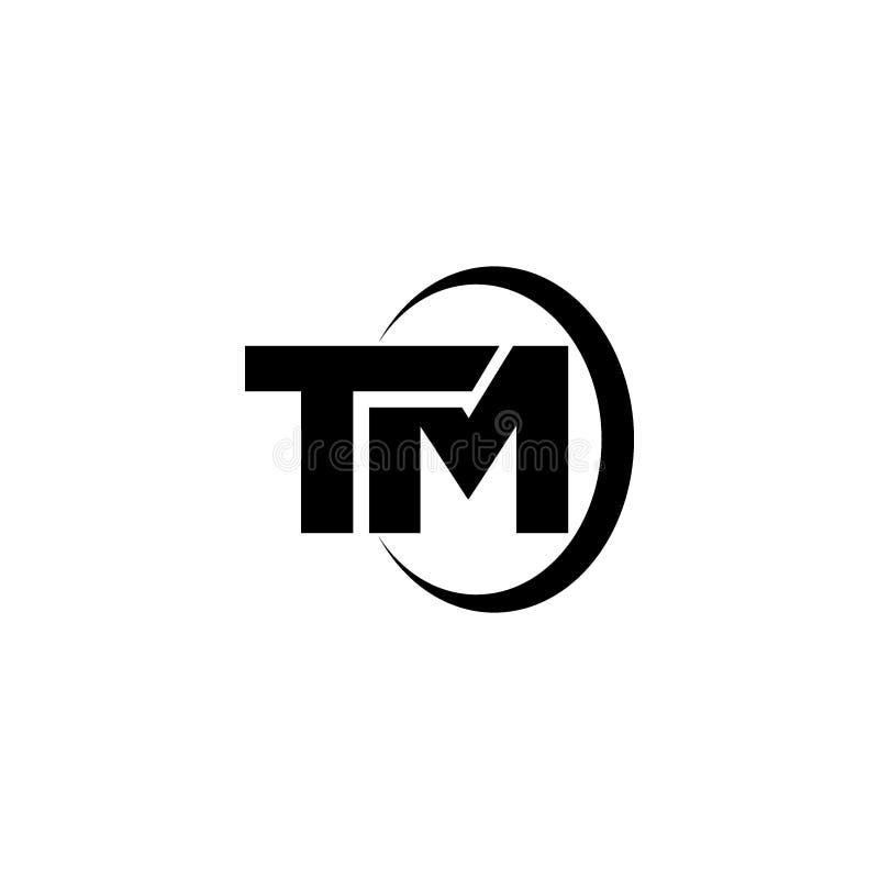 Flat TM Letter logo vector vector illustration