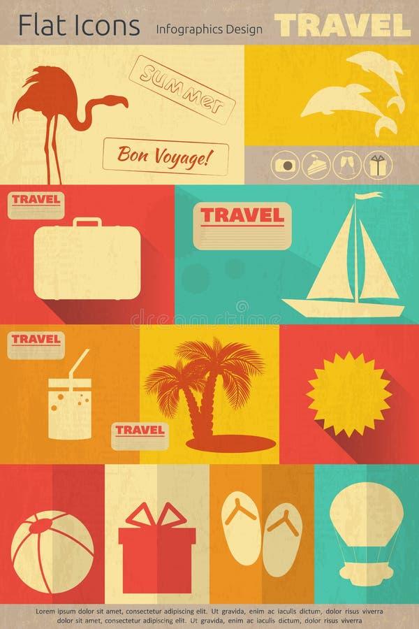 Flat Travel Icons Set vector illustration