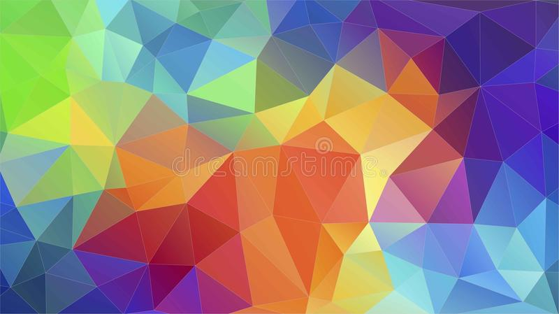 Flat Triangle Multicolor Geometric Triangle Wallpaper Stock Vector