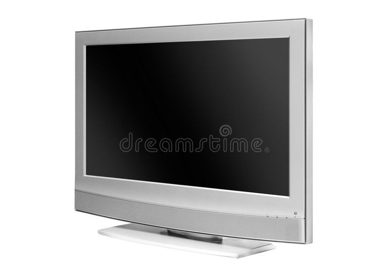 The flat TV vector illustration