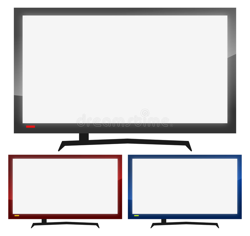 Flat TV Screen stock photography