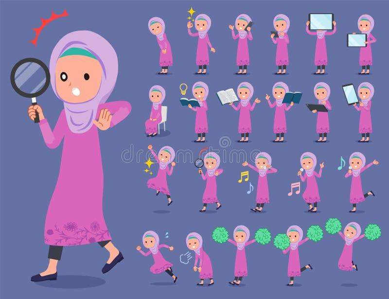 Flat type Arab girl_2 royalty free illustration