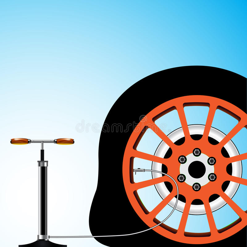 Flat tyre. Abstract vector art illustration; image contains transparency vector illustration