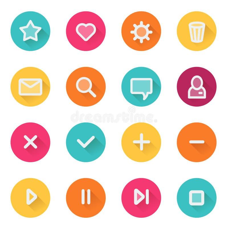 Free Flat UI Design Elements - Set Of Basic Web Icons Stock Images - 49892934
