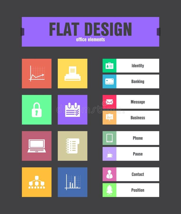 Download Flat ui icons stock vector. Illustration of organigram - 33104702