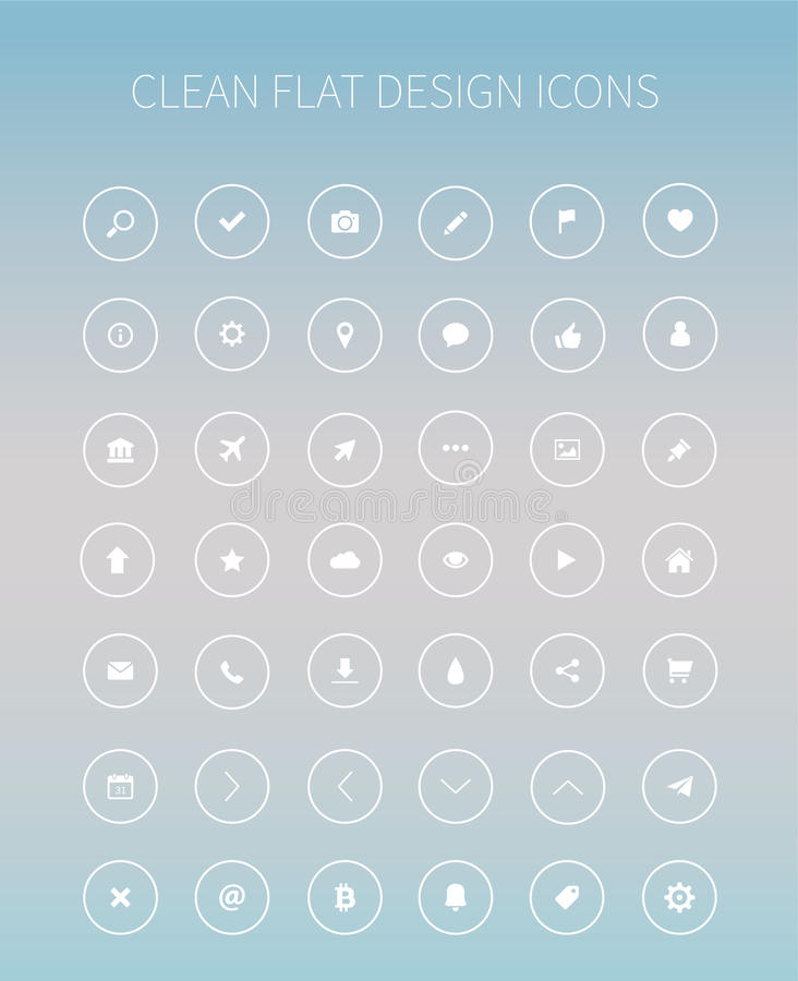 Flat ui kit pack icons for webdesign or mobile design. Style flat icons pack for webdesign or mobile application royalty free illustration