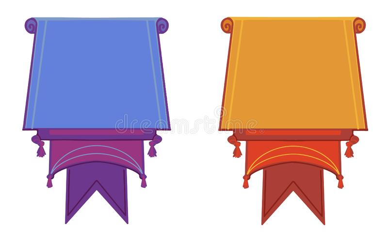 Flat vector banners flat isolated on white background royalty free illustration