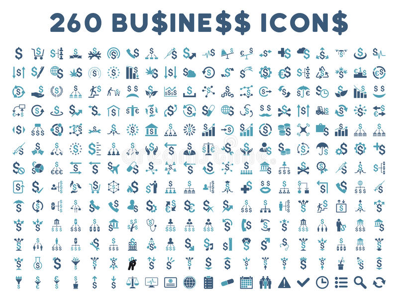 260 Flat Vector Business Icons vector illustration