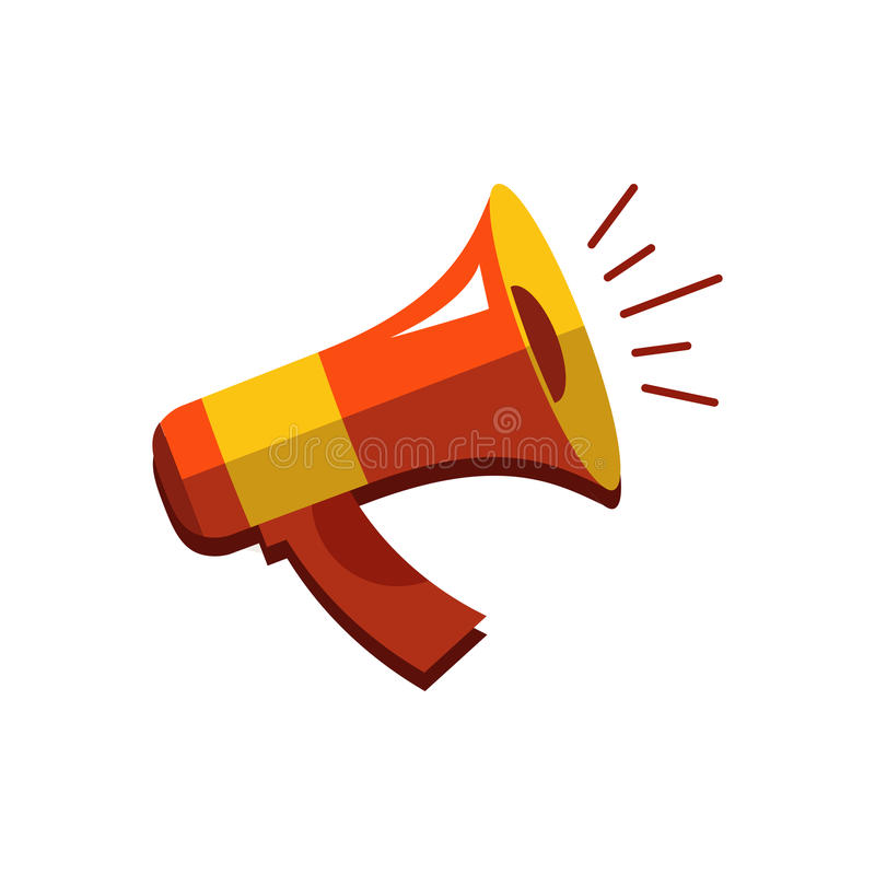 Flat Vector Icon Of Megaphone For Social Media Marketing Concept ...