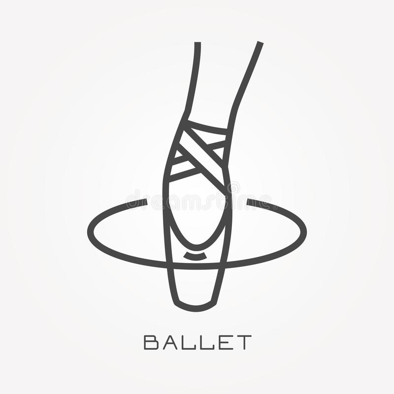 Flat vector icons with ballet stock illustration
