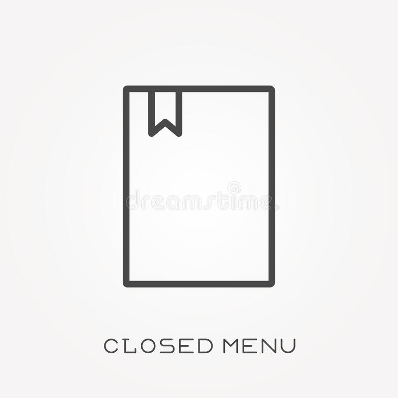Flat vector icons with closed menu stock illustration