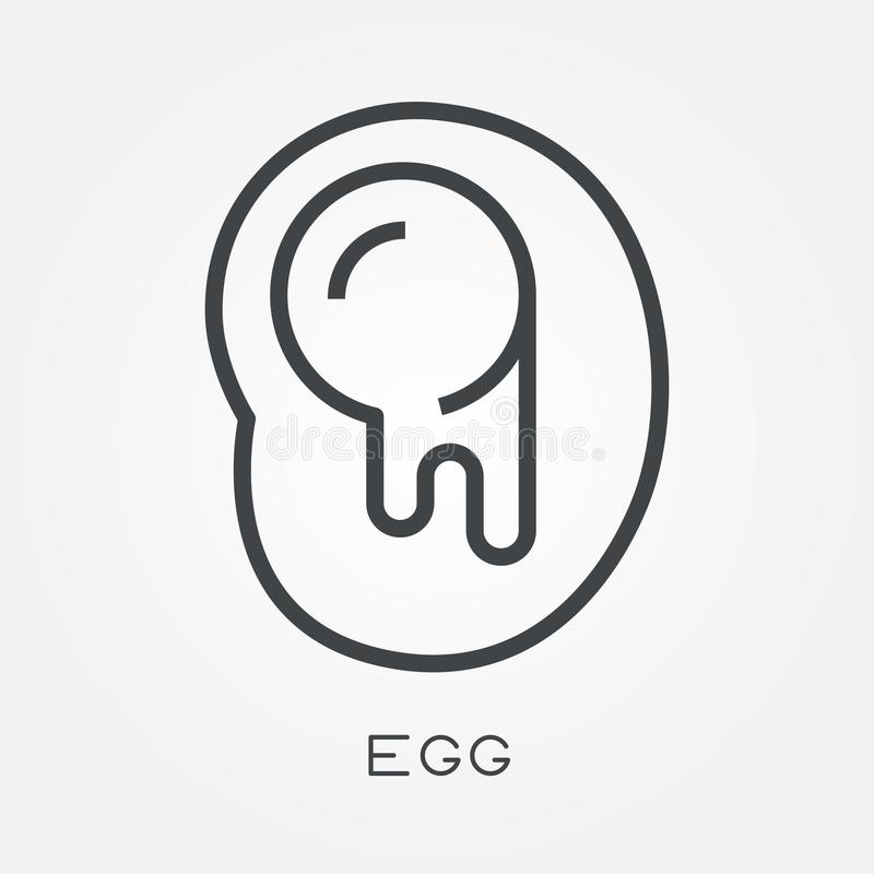 Flat vector icons with egg vector illustration