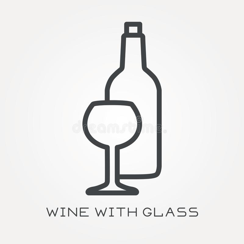 Free Flat Vector Icons With Wine Stock Photos - 117511063