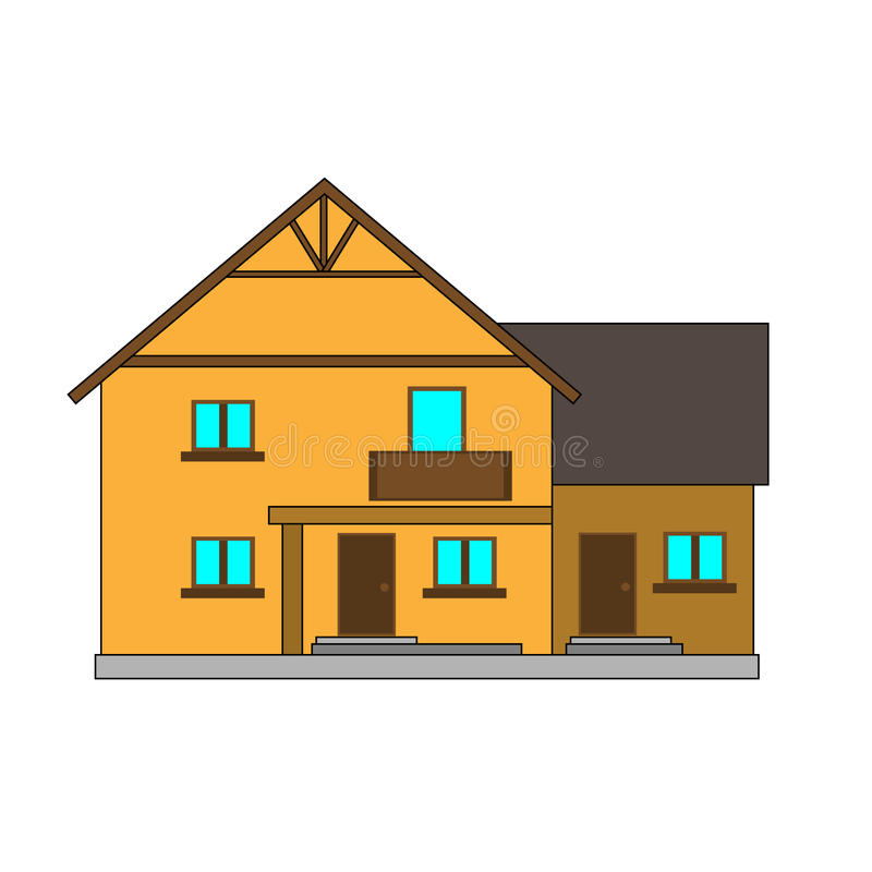 Flat vector illustration house for the creation of the urban lan stock photos