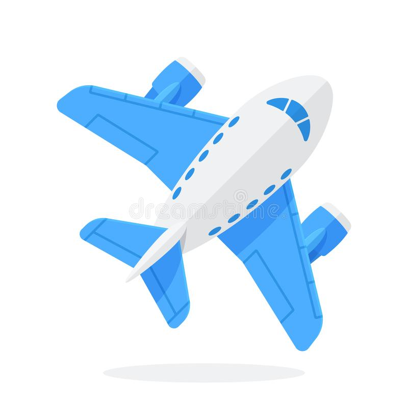 flat vector illustration of toy blue plane stock vector rh dreamstime com