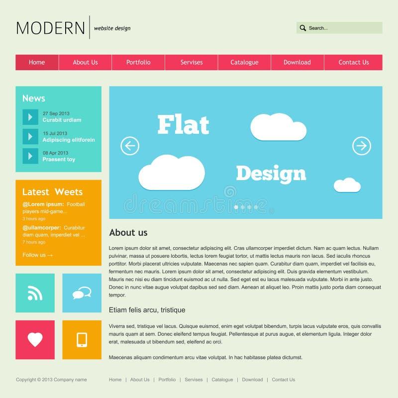Flat Web Design Template.