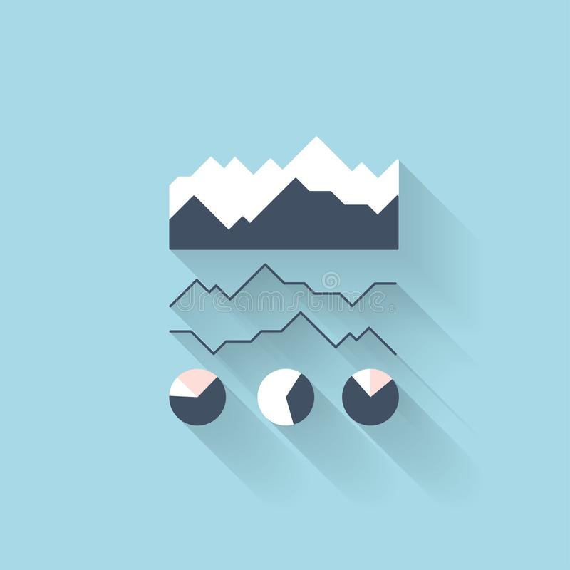 Flat web icon. Banking diagramm. Flat web icon. Banking diagramm royalty free illustration