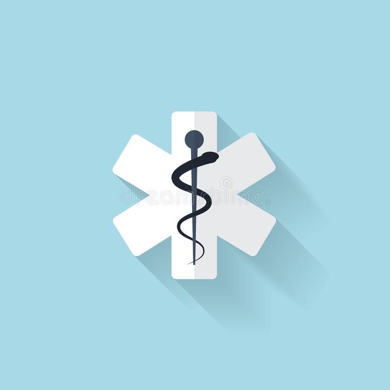 Flat web internet icon. Ambulance symbol. Flat web internet icon. Ambulance symbol royalty free illustration