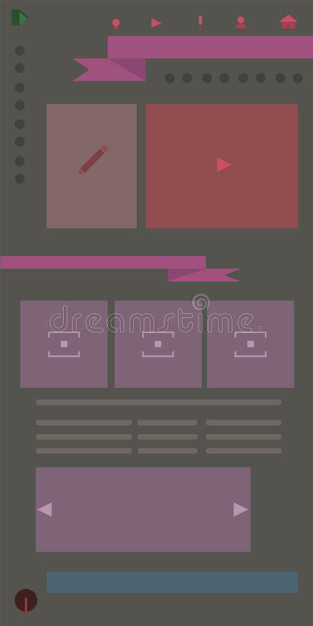 Flat website templates vector illustration