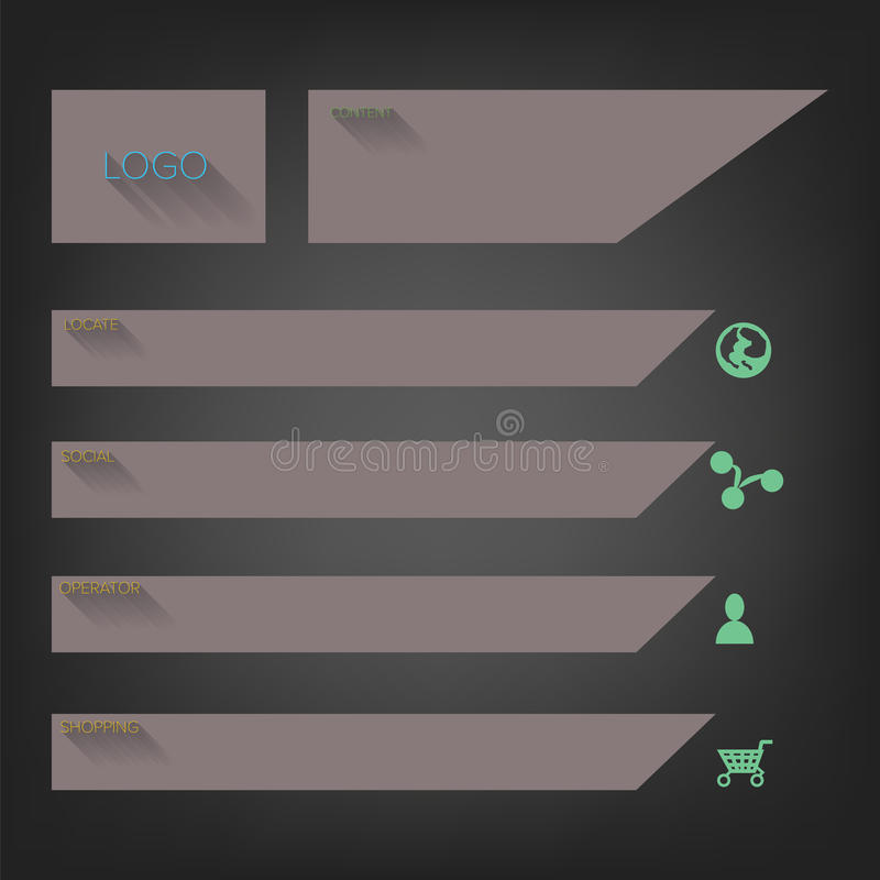 Flat website templates designs. Vector royalty free illustration