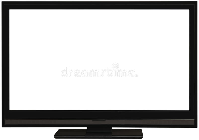 Flat wide TV screen cutout royalty free stock photography