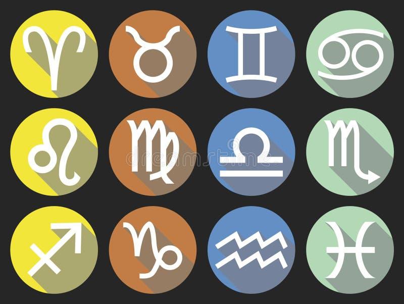 Flat zodiac symbol stock photo