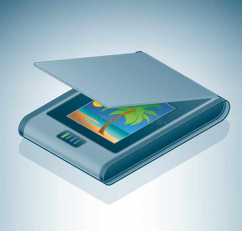 flatable照片扫描程序 库存例证