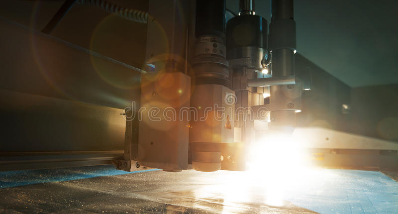 Flatbed cutter plotter stock images
