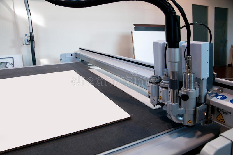 Flatbed Cutter Router Cutting Plotter Stock Image