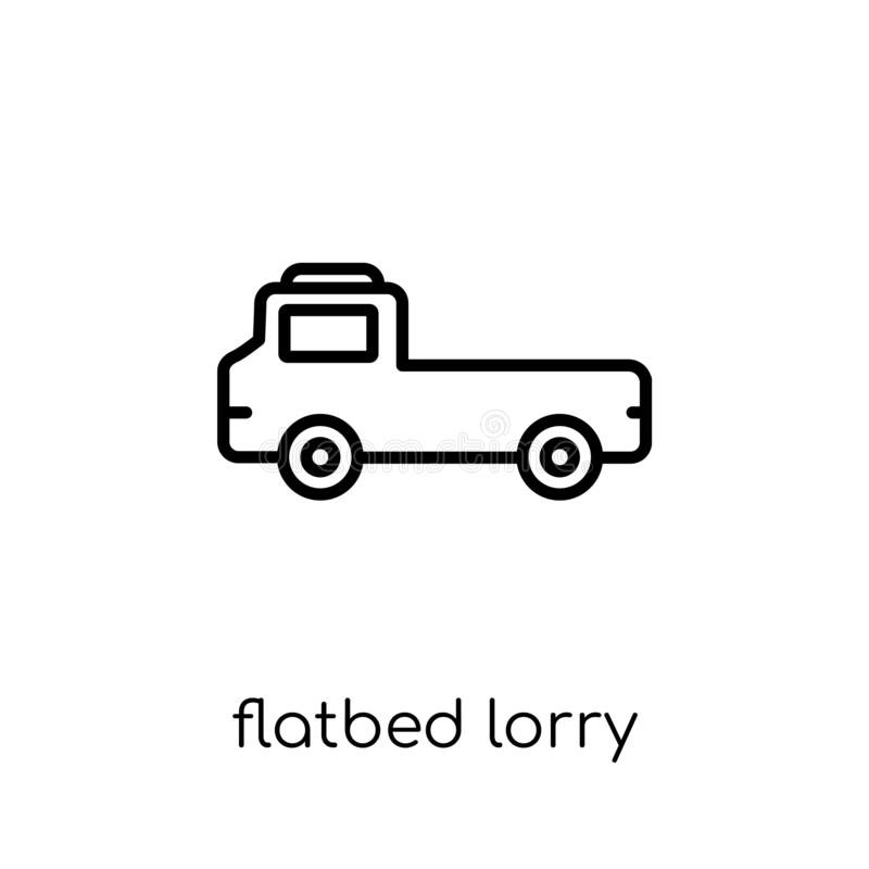 flatbed lorry icon from Transportation collection. vector illustration