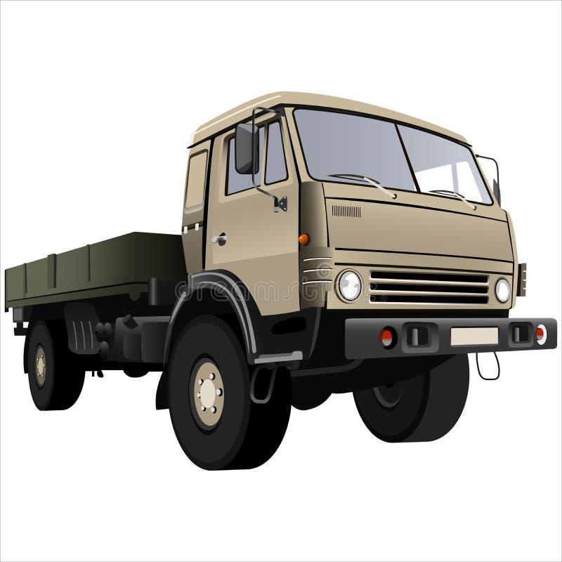 Flatbed truck vector illustration