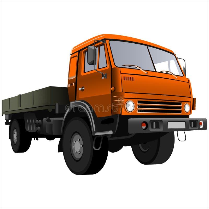 Flatbed truck royalty free illustration