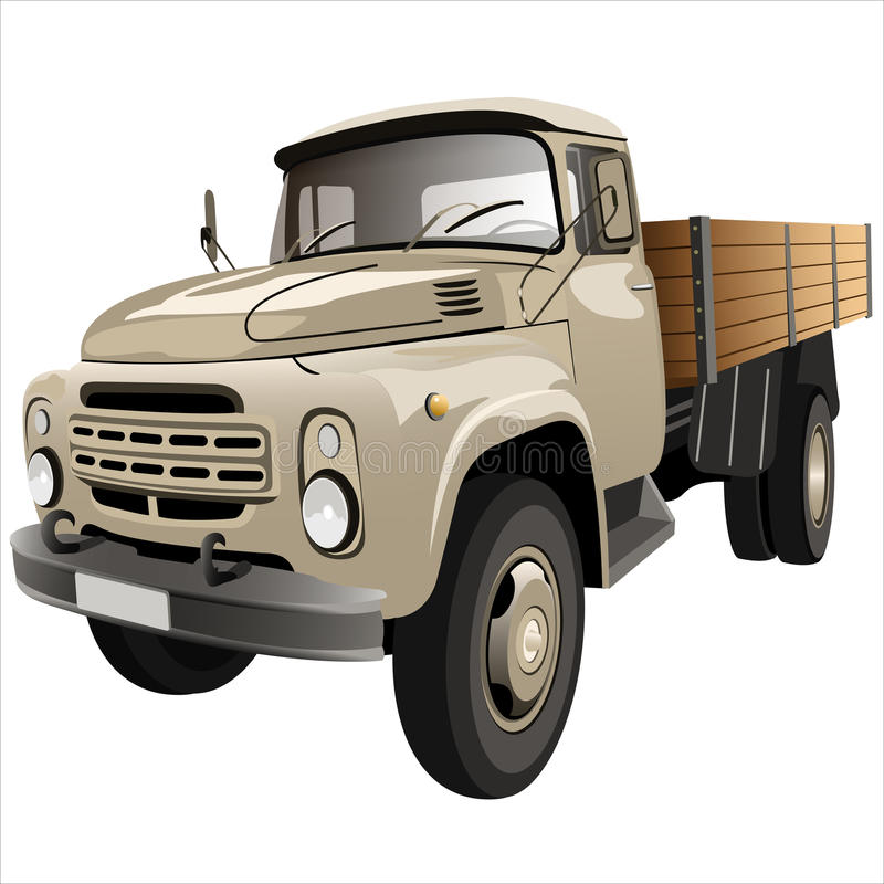 Flatbed truck stock illustration