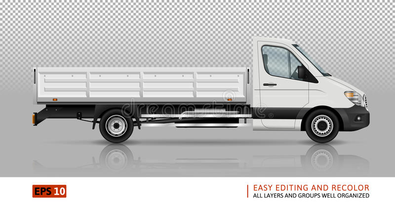 Flatbed truck template royalty free illustration