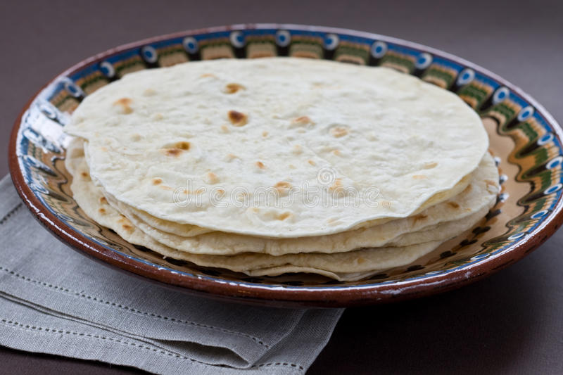 Flatbread indien traditionnel photo stock