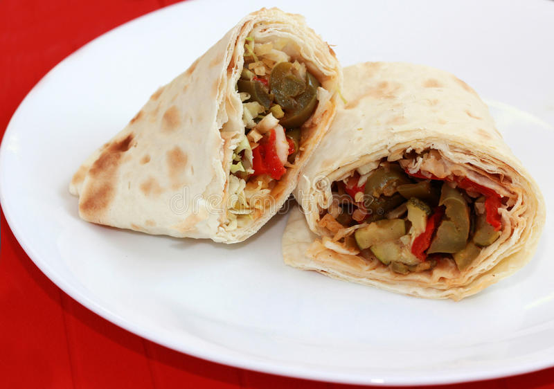 Download Flatbread Wrap stock photo. Image of home, flat, conscious - 15661916