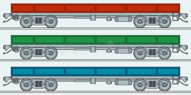 flatcar ilustracja wektor