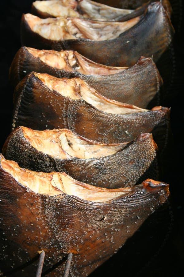 Flatfish fumados fotos de stock royalty free
