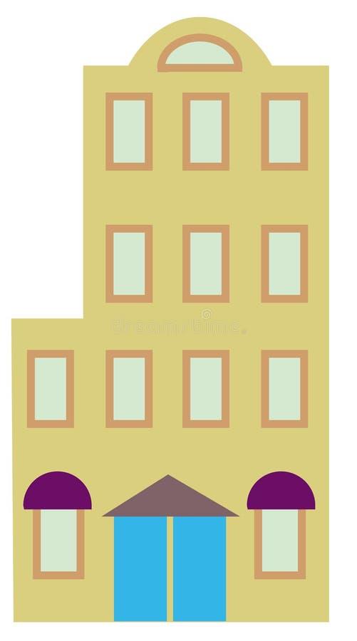 Flatgebouw stock illustratie