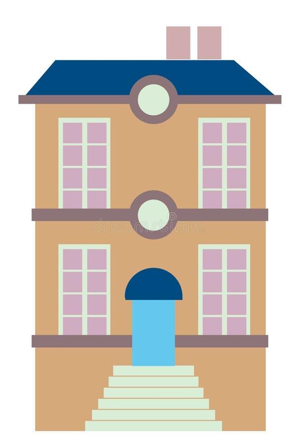 Flatgebouw vector illustratie