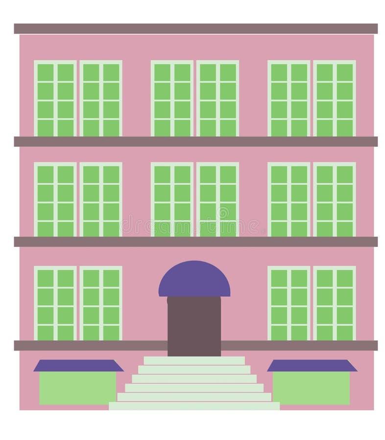 Flatgebouw royalty-vrije illustratie