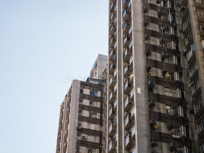 Flatgebouw in Hong Kong. royalty-vrije stock afbeelding