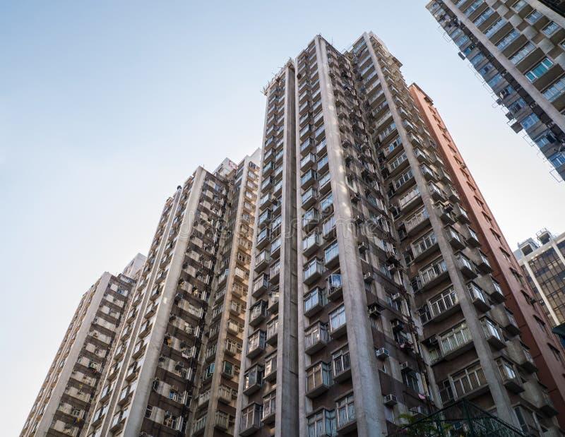 Flatgebouw in Hong Kong. stock fotografie