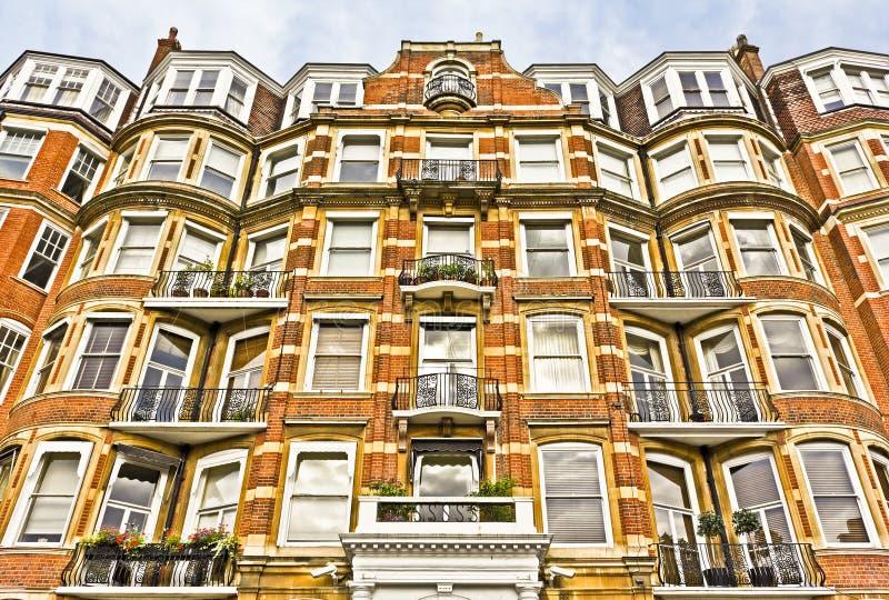 Flatgebouw in Londen stock foto