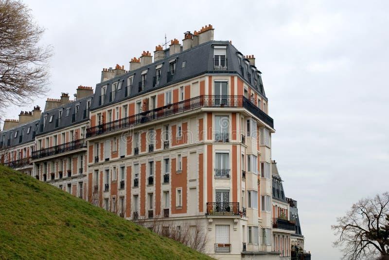 Flatgebouw, Parijs, Frankrijk royalty-vrije stock foto's